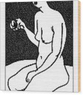 Nude Sketch 36 Wood Print