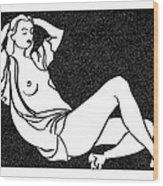 Nude Sketch 58 Wood Print