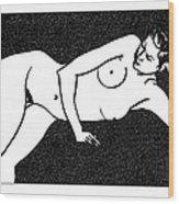 Nude Sketch 72 Wood Print