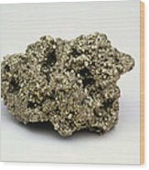 Nugget Of Fool's Gold, Iron Pyrites Wood Print