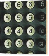 Numbers Game Wood Print