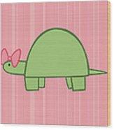 Nursery Art Girls Turtle Wood Print by Christy Beckwith
