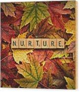 Nurture-autumn Wood Print