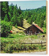 Nw California Country Road Wood Print