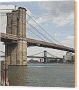 Ny Bridges 1 Wood Print by Art Ferrier