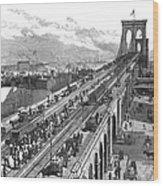 Ny: Brooklyn Bridge, 1883 Wood Print