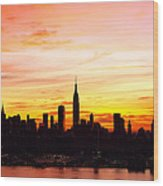 Ny Saturday Sunrise Wood Print