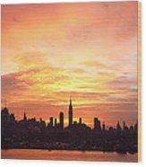 Ny Skyline -daybreak Splendor Wood Print