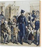 Ny Slum Children, 1864 Wood Print