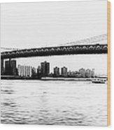 Nyc - Manhattan Bridge Wood Print