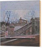 Nyc Bethesda Stairs Layered Wood Print