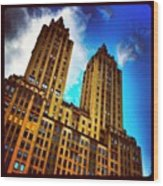 #nyc #clouds #centralpark #sky #building Wood Print