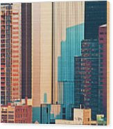 Nyc Colors And Lines II Wood Print