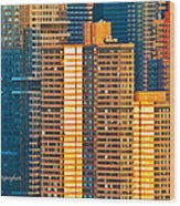 Nyc Colors And Lines IIi Wood Print