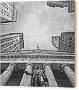 Nyc Looking Up Bw16 Wood Print by Scott Kelley