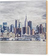 Nyc Skyline 2 Wood Print