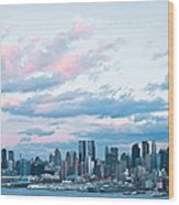 Nyc Sundown Blue II Wood Print