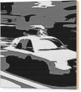Nyc Taxi Bw3 Wood Print