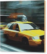 Nyc Taxi Color 16 Wood Print
