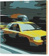 Nyc Taxi Color 6 Wood Print