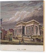 Nyc: The Tombs, 1850 Wood Print