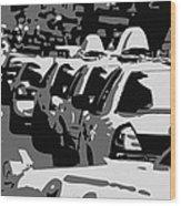 Nyc Traffic Bw3 Wood Print