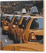 Nyc Traffic Color 16 Wood Print