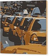 Nyc Traffic Color 6 Wood Print