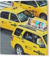 Nyc Yellow Cabs Wood Print