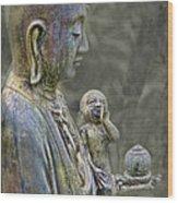 O-jizo-sama  Wood Print by Karen Walzer