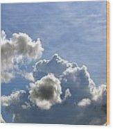 O Spacious Skies Wood Print