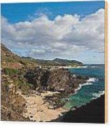 Oahu Coastal Getaway Wood Print