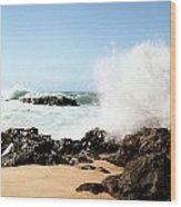 Oahu North Shore Breaker Wood Print