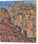 Oak Creek Canyon Wood Print