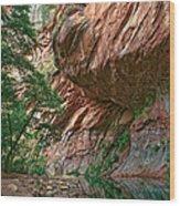 Oak Creek Canyon Walls Wood Print by Dave Dilli