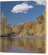 Oak Creek Reflection Wood Print