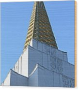 Oakland California Temple . The Church Of Jesus Christ Of Latter-day Saints . 7d11358 Wood Print