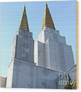 Oakland California Temple . The Church Of Jesus Christ Of Latter-day Saints . 7d11360 Wood Print