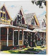 Oaks Bluff Martha's Vineyard Wood Print