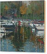 Oakville Harbour On Wood Print