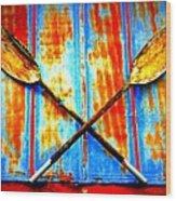 Oar Else Wood Print by Randall Weidner