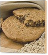 Oatmeal Raisin Cookie Wood Print by Rob Outwater