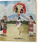 Oaxaca Dancers Wood Print