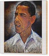 Obama. The 44th President. Wood Print by Fred Makubuya