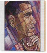 Obama. The Thinker Wood Print by Fred Makubuya