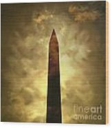 Obelisk. Illustration Wood Print by Bernard Jaubert