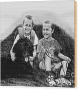 Obrien Brothers And Their Dog Wood Print
