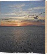 Observation Tower Sunset  Wood Print