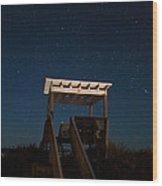 Obx Night Sky Wood Print
