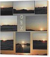 Obx North Carolina Sunsets Wood Print